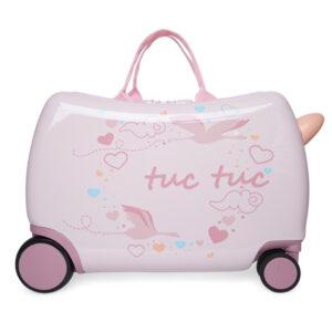 Maleta trolley niño de viaje Lady Bird Rosa Tuc Tuc